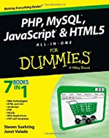 PHP, MySQL, JavaScript & HTML5 All-in-One For Dummies Front Cover