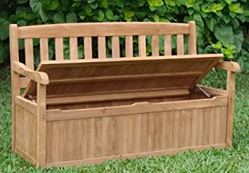 New 5 Feet Grade A Teak Wood Luxurious Outdoor Garden Bench With Storage  Box  Devon