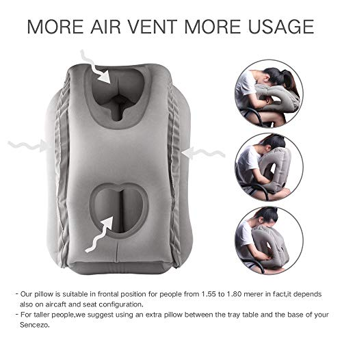 Sunany Inflatable Travel Pillow Portable Airplane Pillow