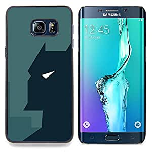 "Qstar Arte & diseño plástico duro Fundas Cover Cubre Hard Case Cover para Samsung Galaxy S6 Edge Plus / S6 Edge+ G928 (Minimalista Bat Superhero"")"