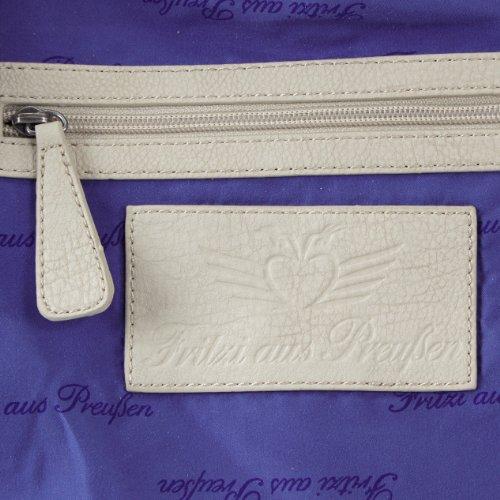 Fritzi aus Preussen Cassandra - Bolso de hombro de material sintético mujer blanco - Weiß (White-Be 55)