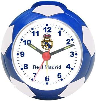 142| RELOJ DESPERTADOR REAL MADRID EN FORMA DE BALON, PRODCTO OFICIAL: Amazon.es: Hogar