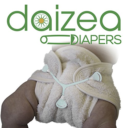 (Sale: Super Soft Unbleached Terry Cloth Contour Diaper with Sewn-in Soaker 1-PK by Daizea Diapers (Size 1: 0-12 Months))