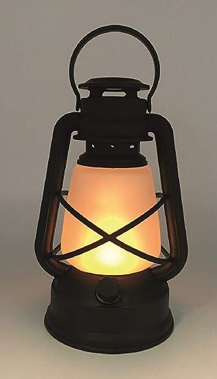 Kunststoff und Glas Petroleumlampe Dekolaterne Sturmlaterne LED Leuchte