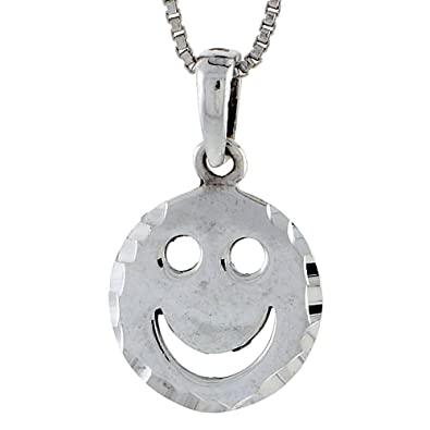 Sterling silver smiley face pendant amazon jewellery sterling silver smiley face pendant aloadofball