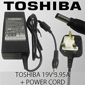 Genuine 19V 3.95A Toshiba Satellite A105 Series A105-S2071, A105-S271X, A105-S2131, A105-S361X, A105-S2201, A105-S1010, A105-S2231, A105-S3610, A105-S2236, A105-S101X, A105-S171X Laptop Charger AC Adapter, [Importado de Reino Unido]