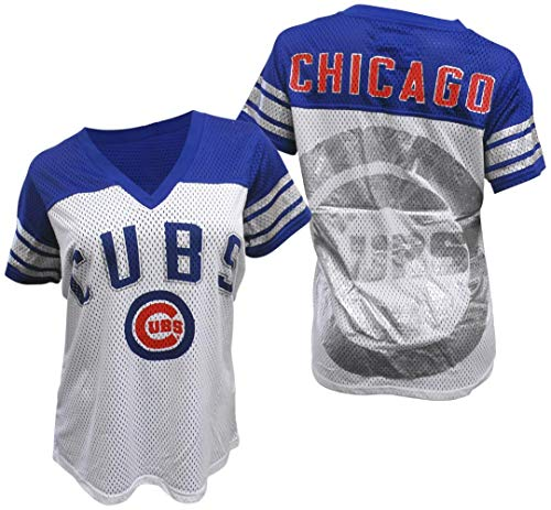 (GIII Apparel Chicago Cubs Women's All American Mesh T-Shirt Small)