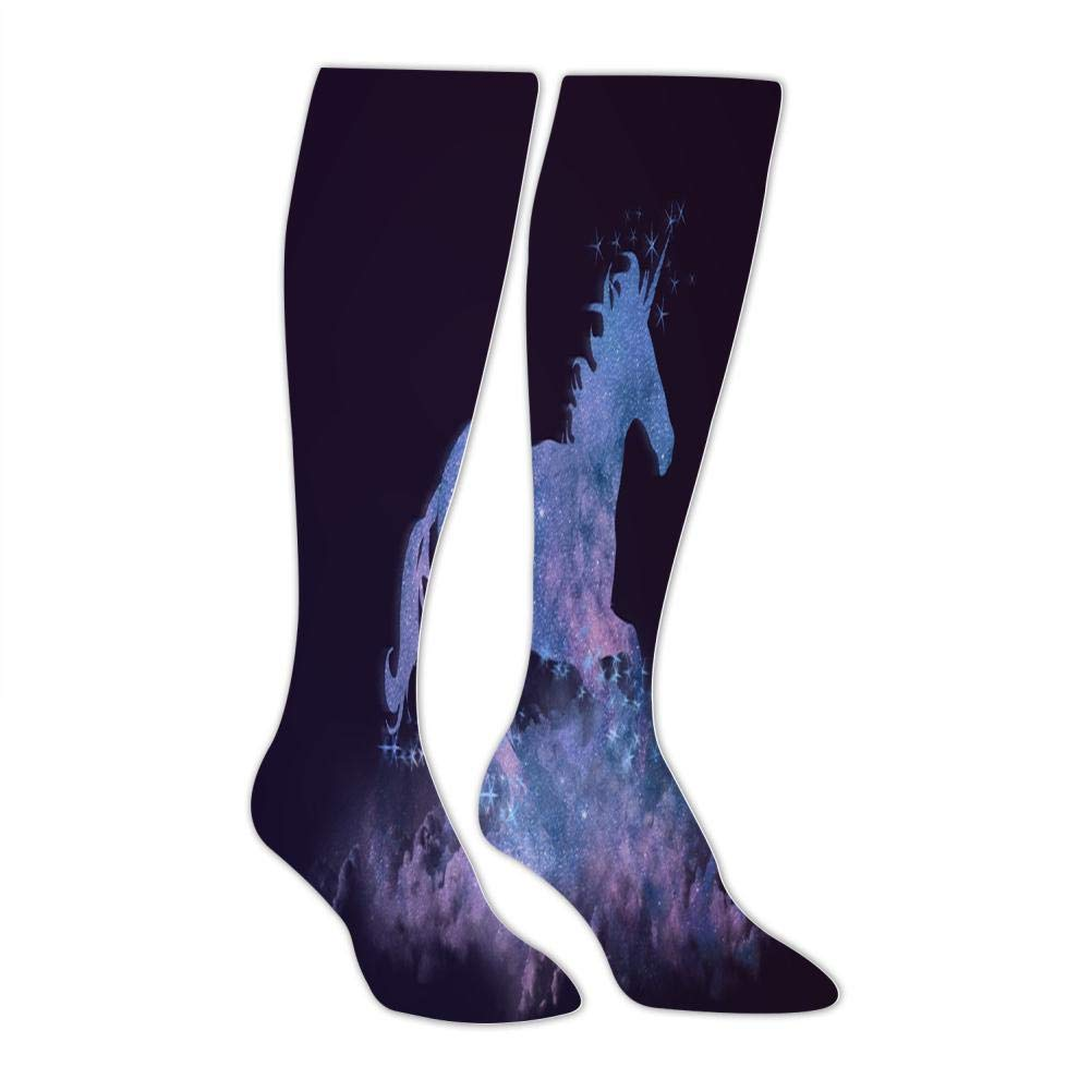 Mens Star Silhouette Horse Socks Sports Fashion and Interesting Socks Leisure