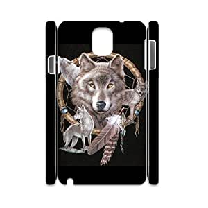 ALICASE Wolf Dream Catcher Customized Cover Case For samsung galaxy note 3 N9000 [Pattern-1]