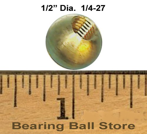 88 1/2'' dia. threaded 1/4-27 brass balls drilled tapped lamp finials by Bearing Ball Store