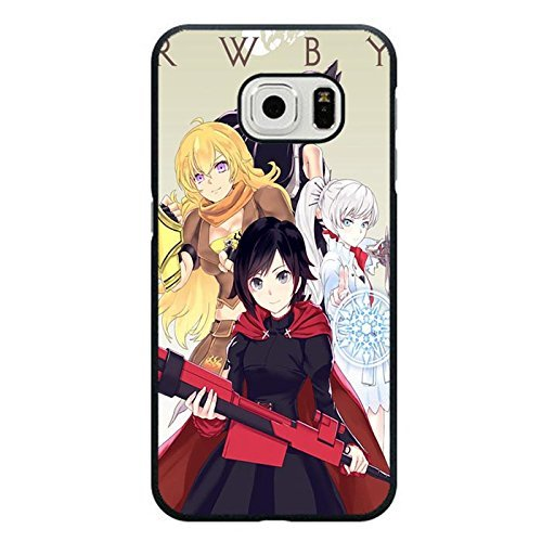Samsung Galaxy S6 Edge Phone Case RWBY 4 Main Roles Elegant Anime Cover
