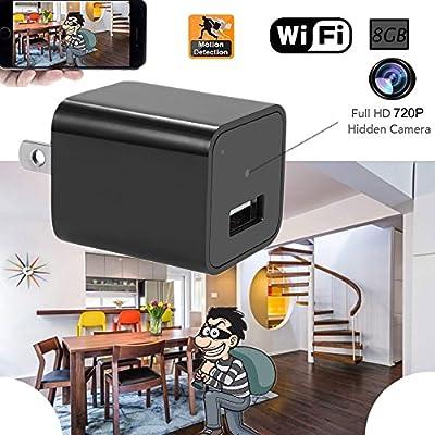 Hidden Spy Camera 720P Wifi Nanny Cam Indoor Security Surveillance Cameras