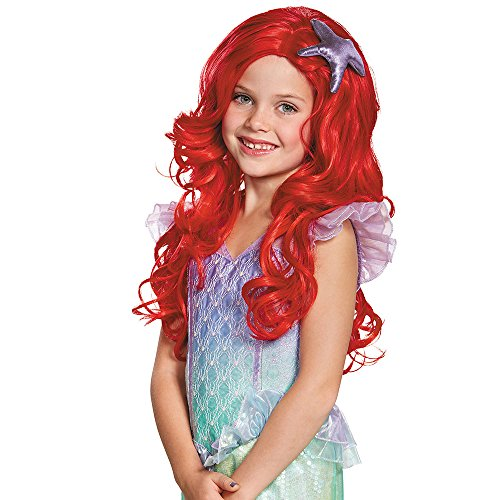[Disguise Ariel Ultra Prestige Child Disney Princess The Little Mermaid Wig, One Size Child, One] (The Little Mermaid Costume)
