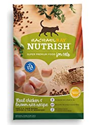 Rachael Ray Nutrish Natural Dry Cat Food, Chicken & Brown Ric...