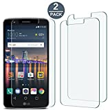 [2 Pack] LG Stylo 3 Screen Protector,Anti-Scratch Ultra Clear 6H Premium 0.2mm Bubble Free HD PET Screen Protector Film for LG Stylo 3