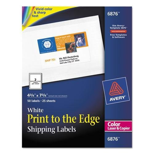 Avery Color Printing Mailing Labels, 4 3/4 x 7 3/4, for sale  Delivered anywhere in USA