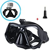 Walway Underwater Diving Mask Snorkeling Goggles Temptered Glasses for GoPro Hero 6, 5 Session/5/4/3+/3/2/1, Xiaomi Yi sjcam Action Camera