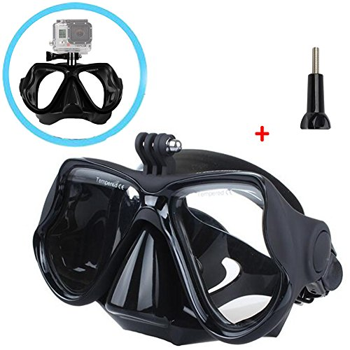 Walway Underwater Diving Mask Snorkeling Goggles Temptered Glasses for GoPro Hero 6, 5 Session/5/4/3+/3/2/1, Xiaomi Yi sjcam action camera by Walway