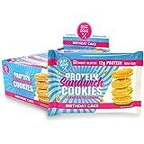 Protein Sandwich Cookies - 12 Grams of Whey Protein Snacks, Gluten Free, Non-GMO (Birthday Cake, 8 Count, 1.79 oz)