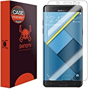 Galaxy Note 7 Screen Protector , Skinomi® TechSkin (Version 2,Case Friendly) Full Coverage Screen Protector for Galaxy Note 7 Clear HD Anti-Bubble Film - with Lifetime Warranty