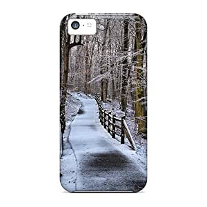 Awesome Design Lovely Path In The Forest In Winter Hard Case Cover For Iphone 5c