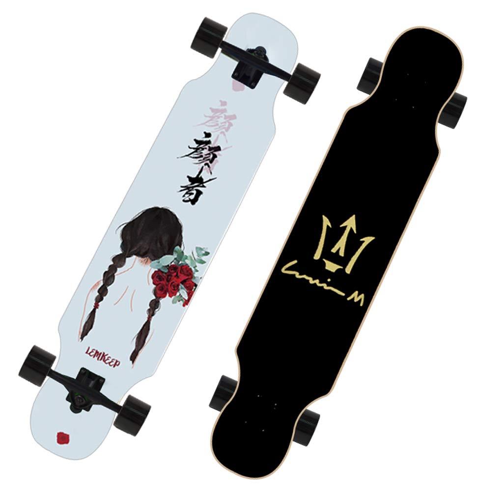 特価 DUWEN スケートボード十代の若者たちメープルスケートボード大人男性と女性成長ボードダンスボードブラシストリート旅行スクーター初心者 C DUWEN (色 : A) B07NRMCRGC B07NRMCRGC C C, バッグショップエビスヤ:00d3bd5f --- a0267596.xsph.ru