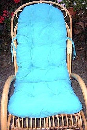 Rattan im Trend–Cuscino con schienale, colore: turchese Medellin Rattano