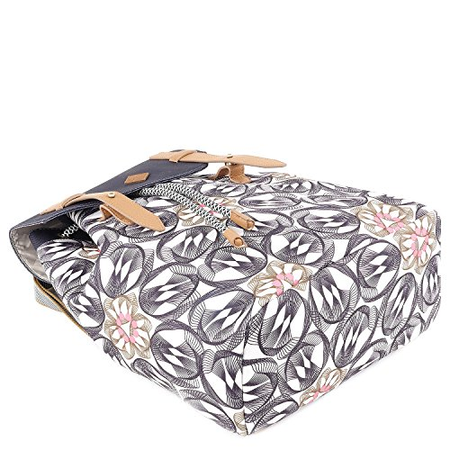 Backpack X Oilily H Mochilas Mujer b T charcoal Grau Cm 15x40x31 dHCUwT