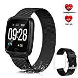 """feifuns Smart Watch,IP67 Waterproof Fitness Tracker with 1.3"""" Touch Screen,Heart Rate Monitor,Pedometer Watch,Sleep Monitor for Men Women Android & iPhone"""