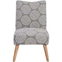 Urban Home Furniture Claire Accent Chair, Grey Medallion