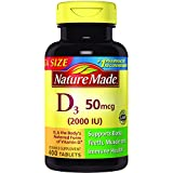 Nature Made Vitamin D3 2000 I.U. 400 Tablets Value Size For Sale