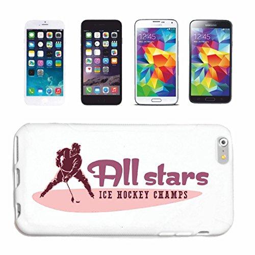caja del teléfono iPhone 6S HOCKEY ALL STARS HOCKEY disco de hockey Equipo de deporte de Hockey sobre hielo BAT Caso duro de la cubierta Teléfono Cubiertas cubierta para el Apple iPhone en blanco
