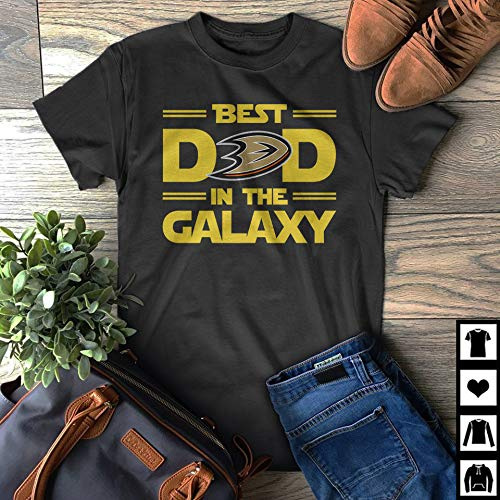 Best Dad in The Galaxy Anaheim-Ducks Starwars Father's Day Gift T-Shirt
