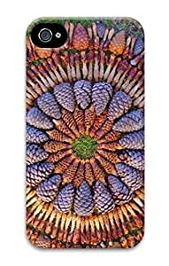 3D PC Case Cover for iPhone 4 Custom Hard Shell Skin for iPhone 4 With Nature Image- A pile of flowers