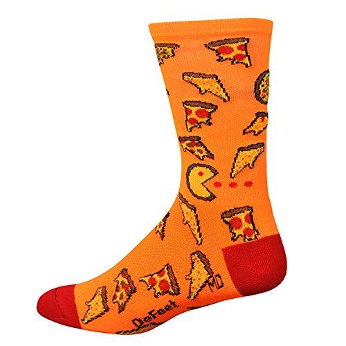 DeFeet Aireator Pizza Party Socks, Neon Orange, Large