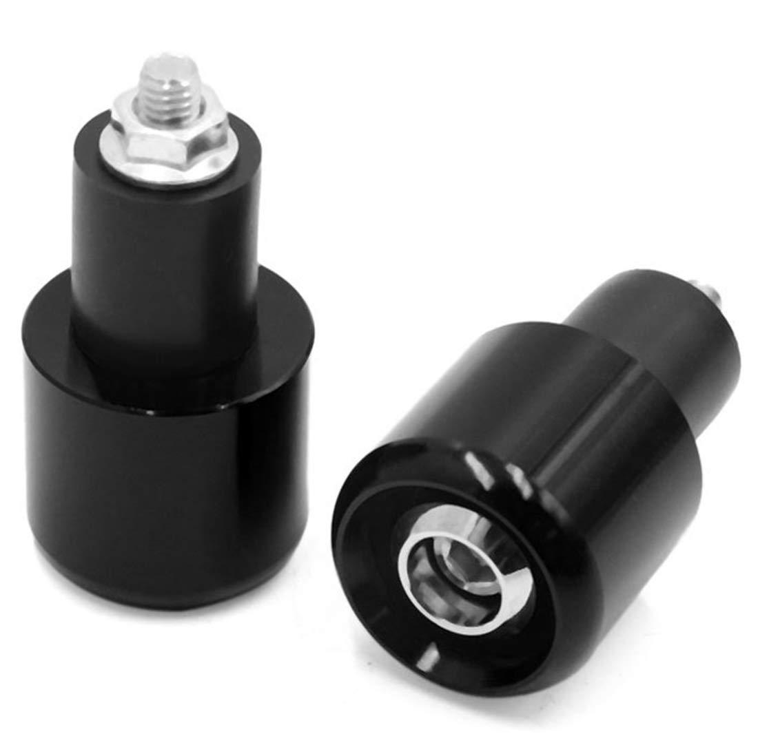Black AUTUT 2Pcs 7//8 Universal Motorcycle Aluminum Grips Handle Bar End Plug End Caps