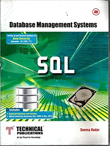 Database Management System Book By Seema Kedar Pdf
