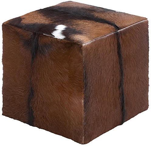 Deco-79-37749-Wood-Leather-Hide-Ottoman-18-x-17-Brown