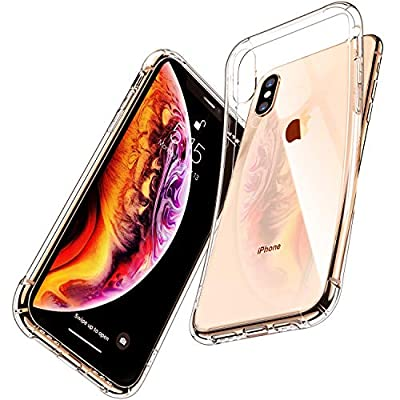 iPhone Case, CANSHN Protective Heavy Duty Case with Soft TPU Bumper [Slim Thin] Case for iPhone -Crystal Clear