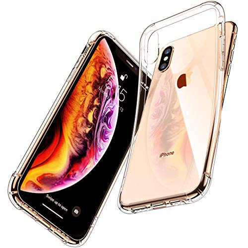 iPhone Xs Max Clear Case, CANSHN Thin Protective Soft TPU Cover with Shock-Absorption Bumper Slim Case for iPhone Xs Max 6.5 Inch(2018) - Crystal Clear