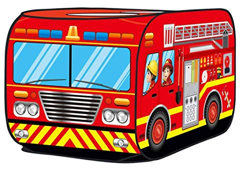 (Glisoo Fire Truck Pop Up Play Tent for Kids (red fire Truck))