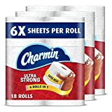Charmin Super Mega Roll Ultra Strong Toilet Paper, 18 Count Packaging May Vary