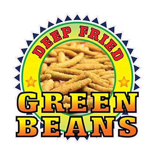 Die-Cut Sticker Multiple Sizes Deep Fried Green Beans Restaurant & Food Deep Fried Green Beans Indoor Decal Concession Sign Golden Brown - 10in Longest Side