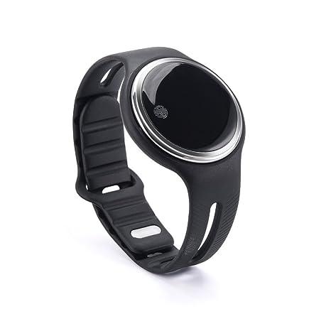 Pulsera Inteligente sununitec E07 Natación Buceo IP67 SmartBand Monitor podómetro sueño reloj inteligente, negro