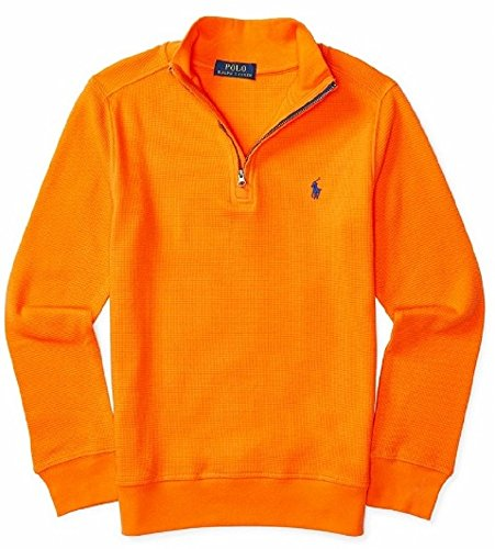 Polo Ralph Lauren Boys' 8-20 Waffle Knit Pullover Sweater (L(14-16), (Polo Cotton Sweater)