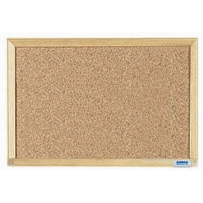 Aarco Products EB1218 Economy Series Wood Frame Natural Cork Board