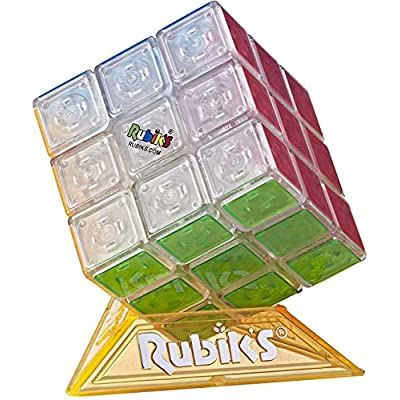 Hasbro Gaming Rubik's Cube Neon Pop 3 X 3 Puzzle for Kids Ages 8 & Up: Toys & Games