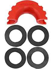 motormic Red Silicone Isolator and 4 Black Washers for 3/4 D Ring Shackles