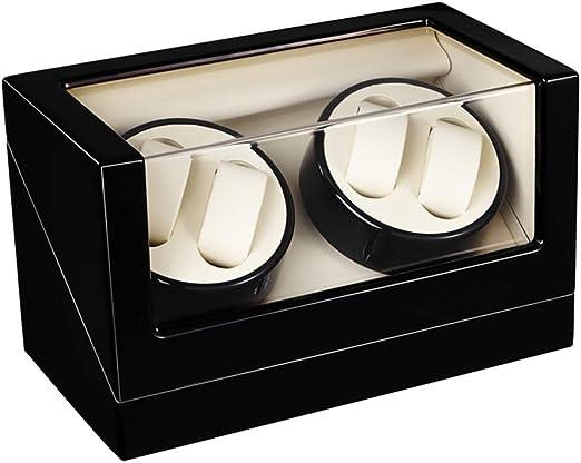 Watch Winder 4+0, Caja giratoria para 4 Relojes automáticos 4 Movimiento, Cargador para Relojes automáticos, en Madera con Acabado Piano (Blanco): Amazon.es: Relojes