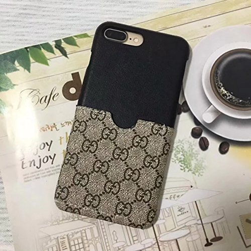 Coach Iphone Case (iPhone7/8 Plus --US Fast Deliver Guarantee FBA-- Luxury PU Leather Style Case Cover for Apple iPhone 7 Plus iPhone 8 Plus Only (Black & GU Monogram))